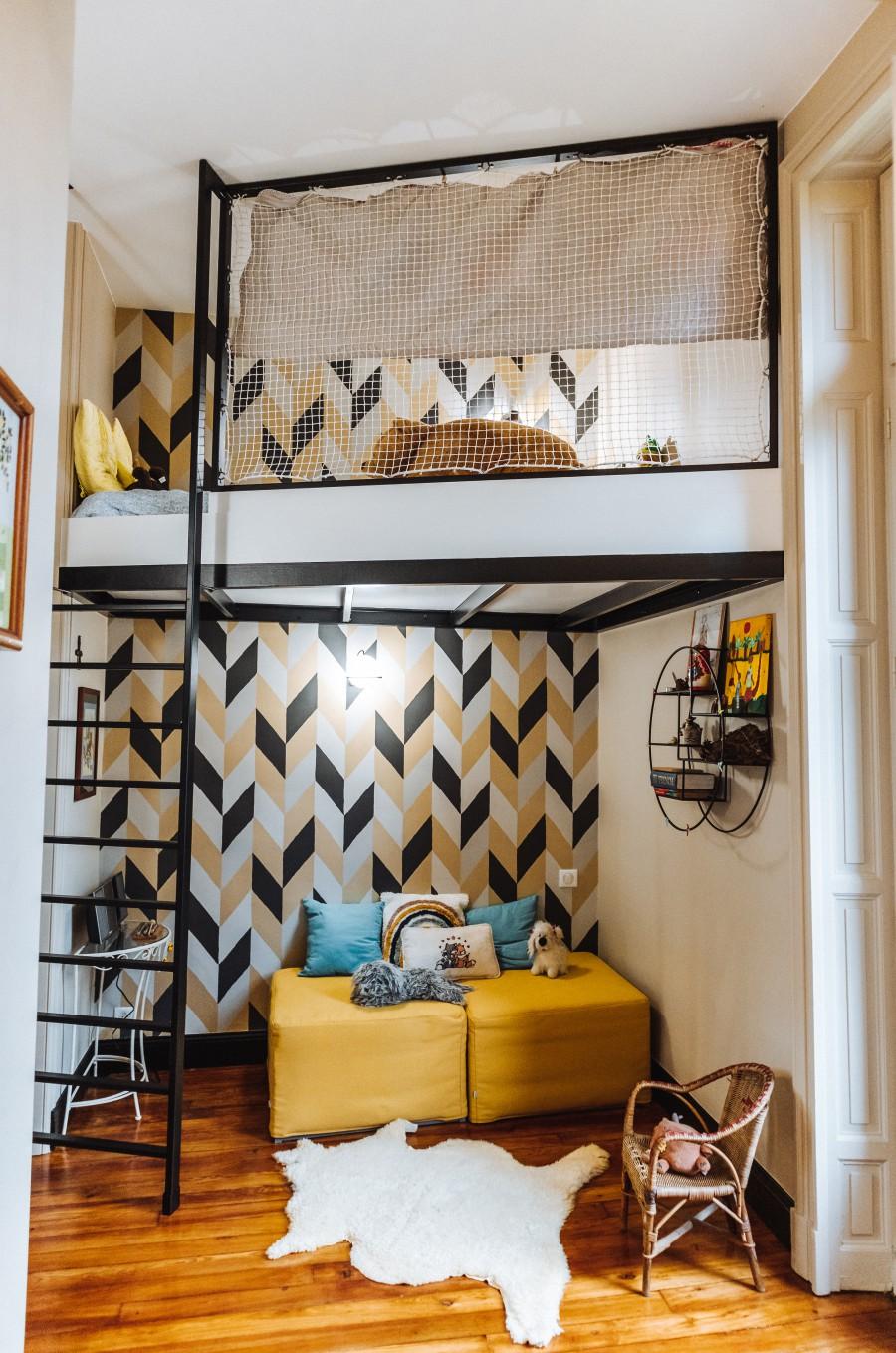 Amenagement mezanine appartement historique Bayonne