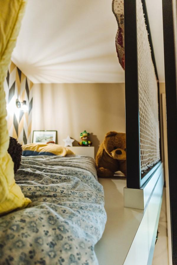 Creation mezanine chambre d enfant appartement historique Bayonne