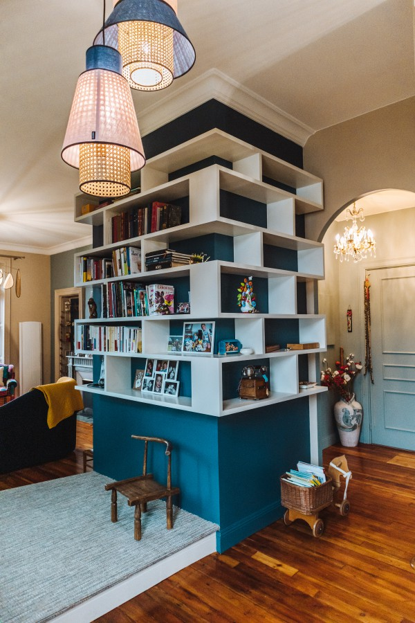 Creation bibliotheque appartement historique Bayonne